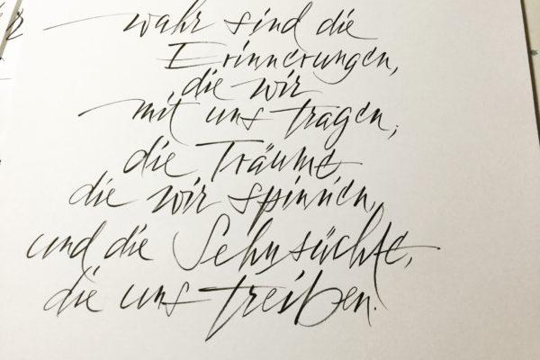 Pinselstift auf Ingres-Papier Din A3