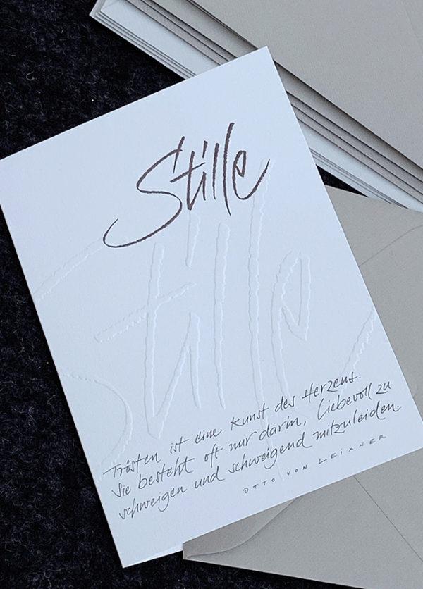 Doppelkarte B6 mit hochwertigem Kuvert, Naturpapier mit Blindprägung