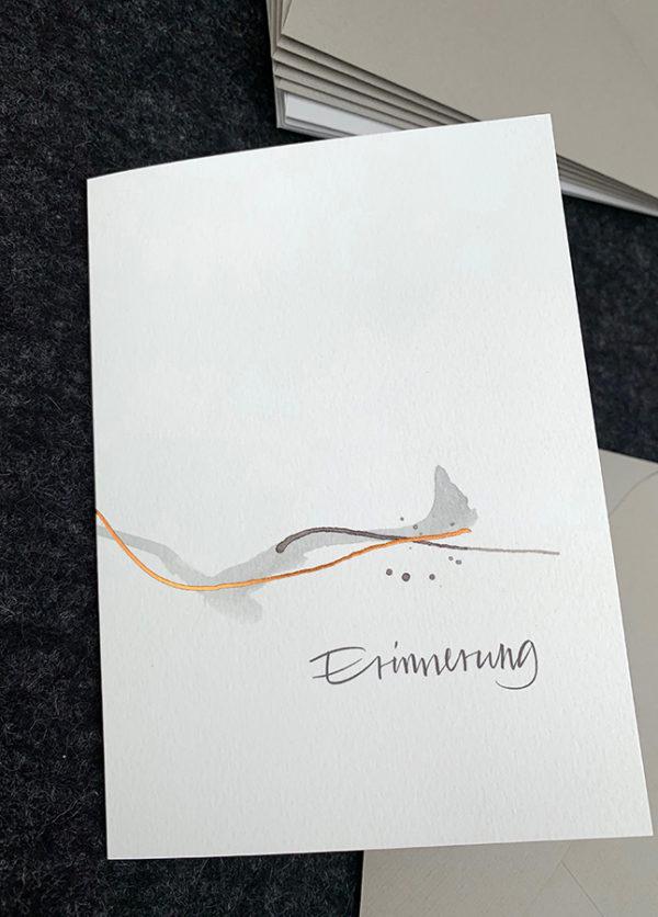 Doppelkarte B6 mit hochwertigem Kuvert, Naturpapier mit Folienprägung