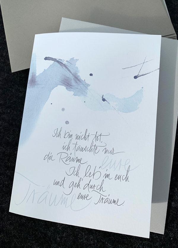 Doppelkarte B6 mit hochwertigem Kuvert, Naturpapier mit Relief-Lack